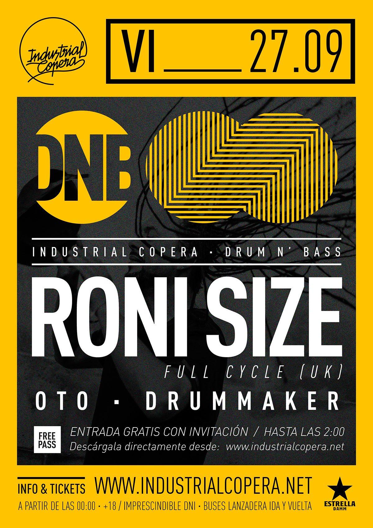 DNB: RONI SIZE @ Industrial Copera | La Zubia | Andalucía | España