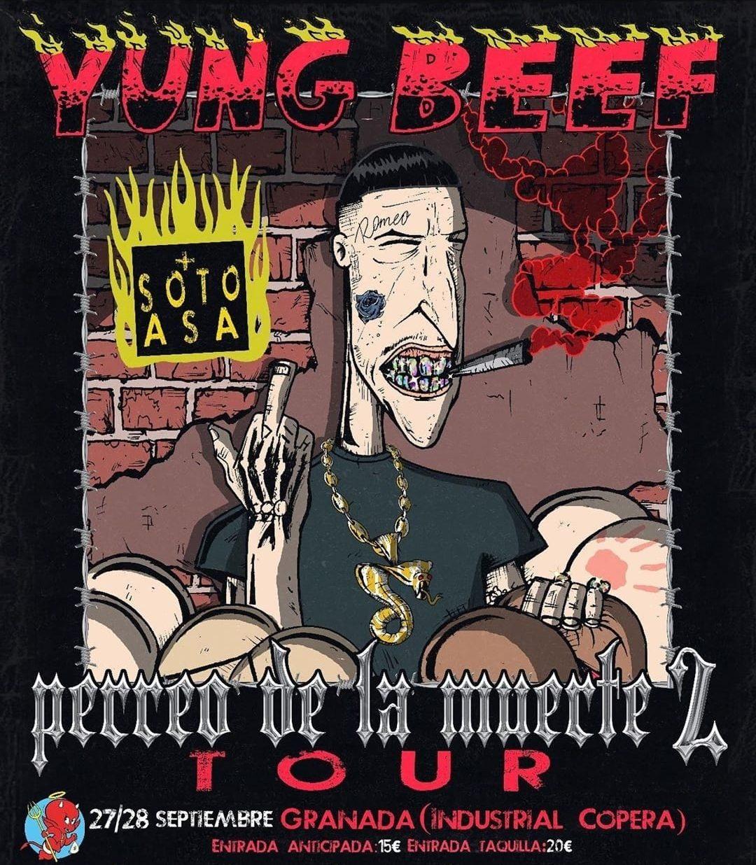 Yung Beef & Soto Asa: Perreo De La Muerte 2 Tour @ Industrial Copera | La Zubia | Andalucía | España